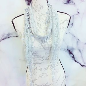 Gray Lace Scarf Women's Accessories Shabby Chic